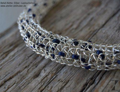 Schmuck in Blau – Colliers, Ohrstecker, Armbänder