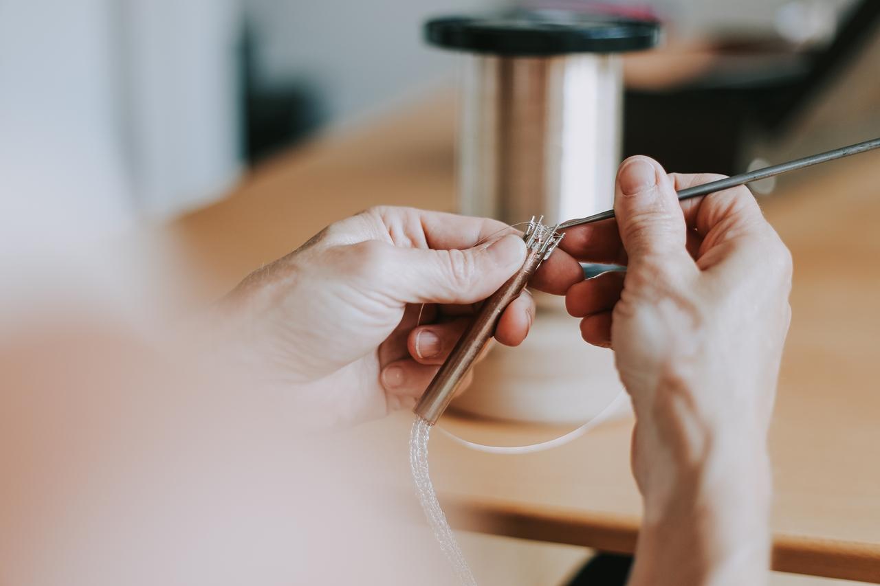Wochenendkurs - handsgestrickte Schlauchketten aus Silberdraht